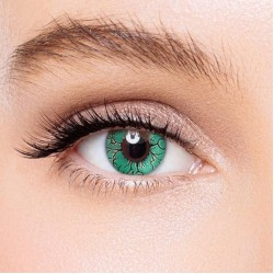 KateEye® Fissure Green Colored Contact Lenses
