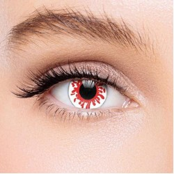 KateEye® White Red Reaper Colored Prescription Contact Lenses