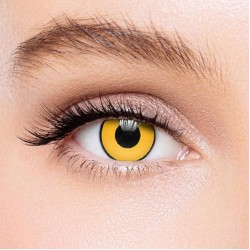 KateEye® Yellow Mad Hatter Colored Contact Lenses